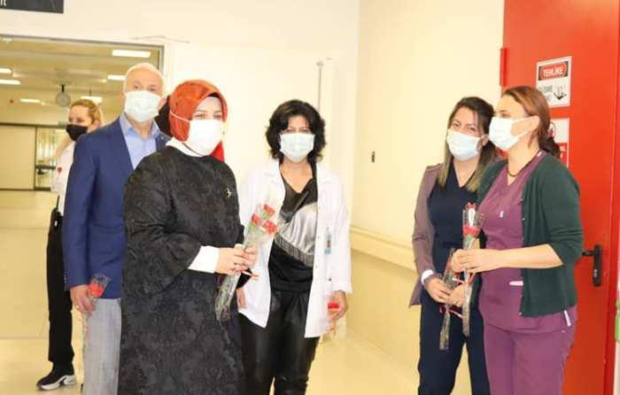 Şehir Hastanesine KANDİL GÜNÜ ANLAMLI ZİYARET