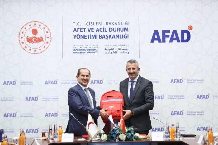 AFAD - Katar Kızılayı İş Birliği Protokolü İmzalandı