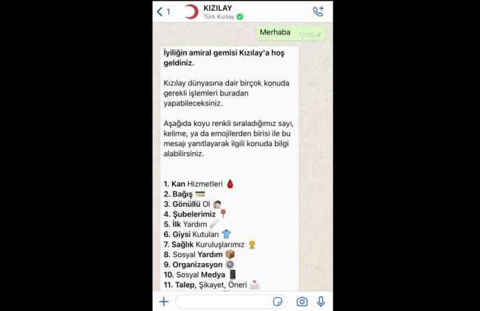 Türk Kızılay ve Facebook, resmi WhatsApp hattını hayata geçirdi