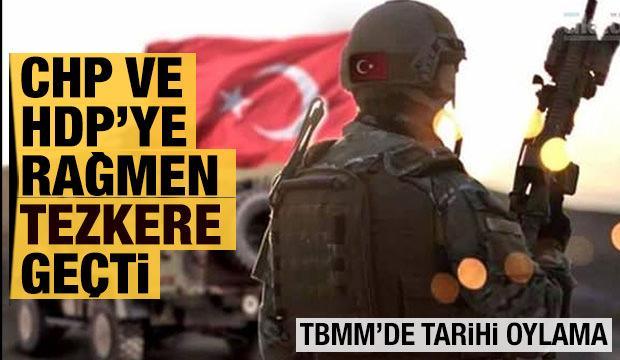 Irak- Suriye Tezkeresi TBMM'den geçti