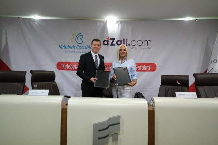 aZall.com ve Kelebek Çocuklar Derneği Kelebeklerimizin Yaralarını Sarmak İçin Protokol İmzaladı